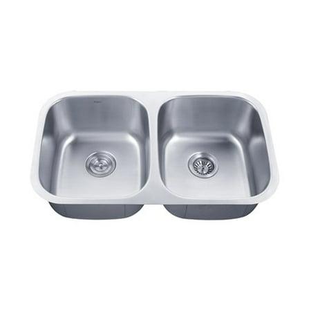 f0d446bf23 KRAUS Premier 32-inch 16 Gauge Undermount 50/50 Double Bowl Stainless Steel  Kitchen