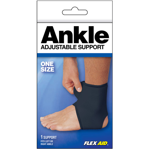 Flex Aid Adjustable Ankle Support, One Size