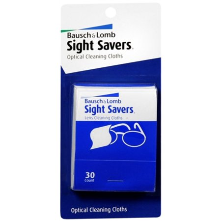 Bausch & Lomb Sight Savers Optical Cleaning Cloths 30 Each (Pack of (Bausch And Lomb Optical)
