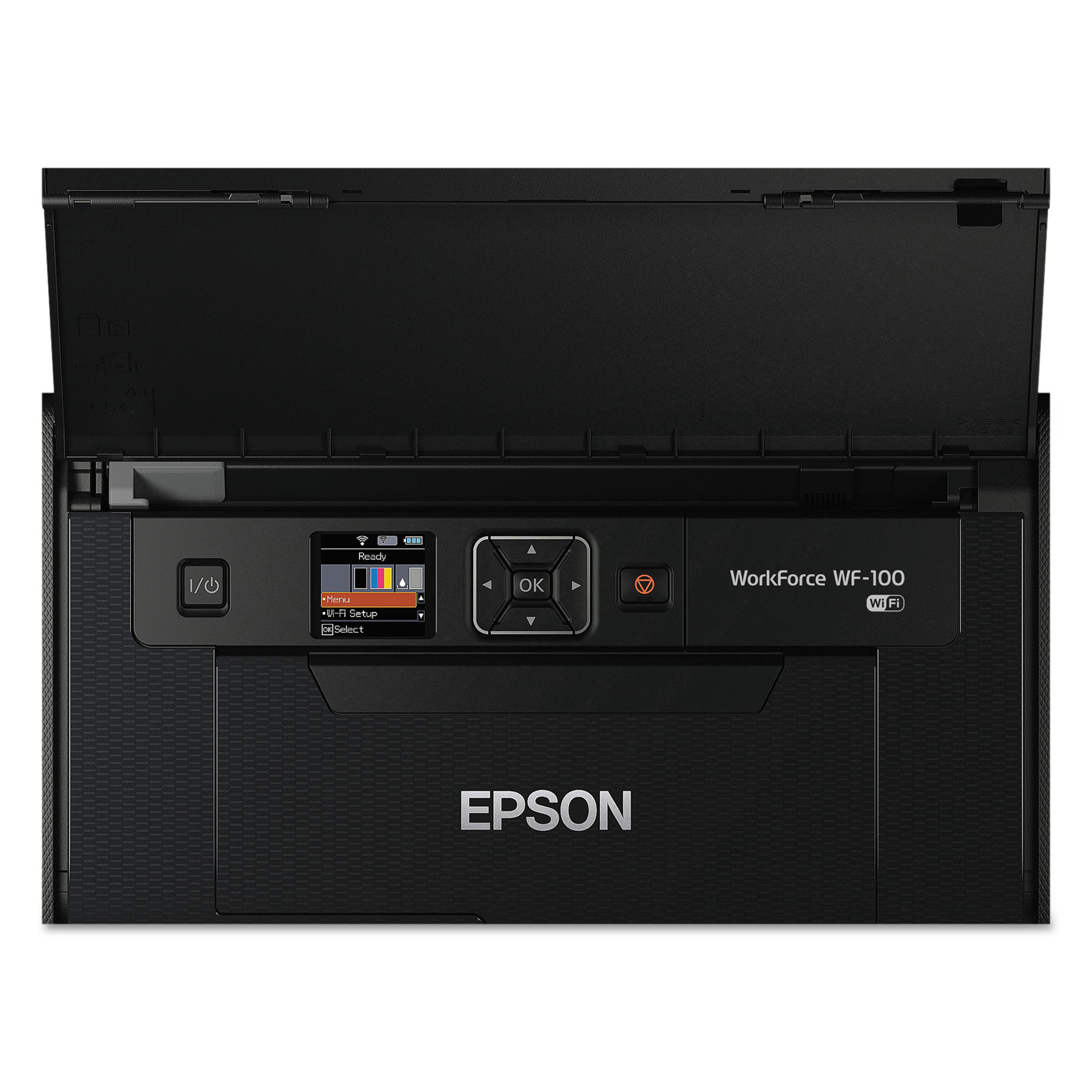 Click here to buy Epson WorkForce WF-100 Inkjet Printer Color 5760 x 1440 dpi Print Photo Print Portable 6.7 ppm Mono Print   3.8 ppm... by Epson.