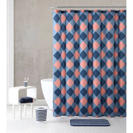 Discontinued Vcny Home Multicolor 18 Piece Bathroom Shower Curtain