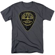 Sun Records Guitar Pick Mens Short Sleeve Shirt