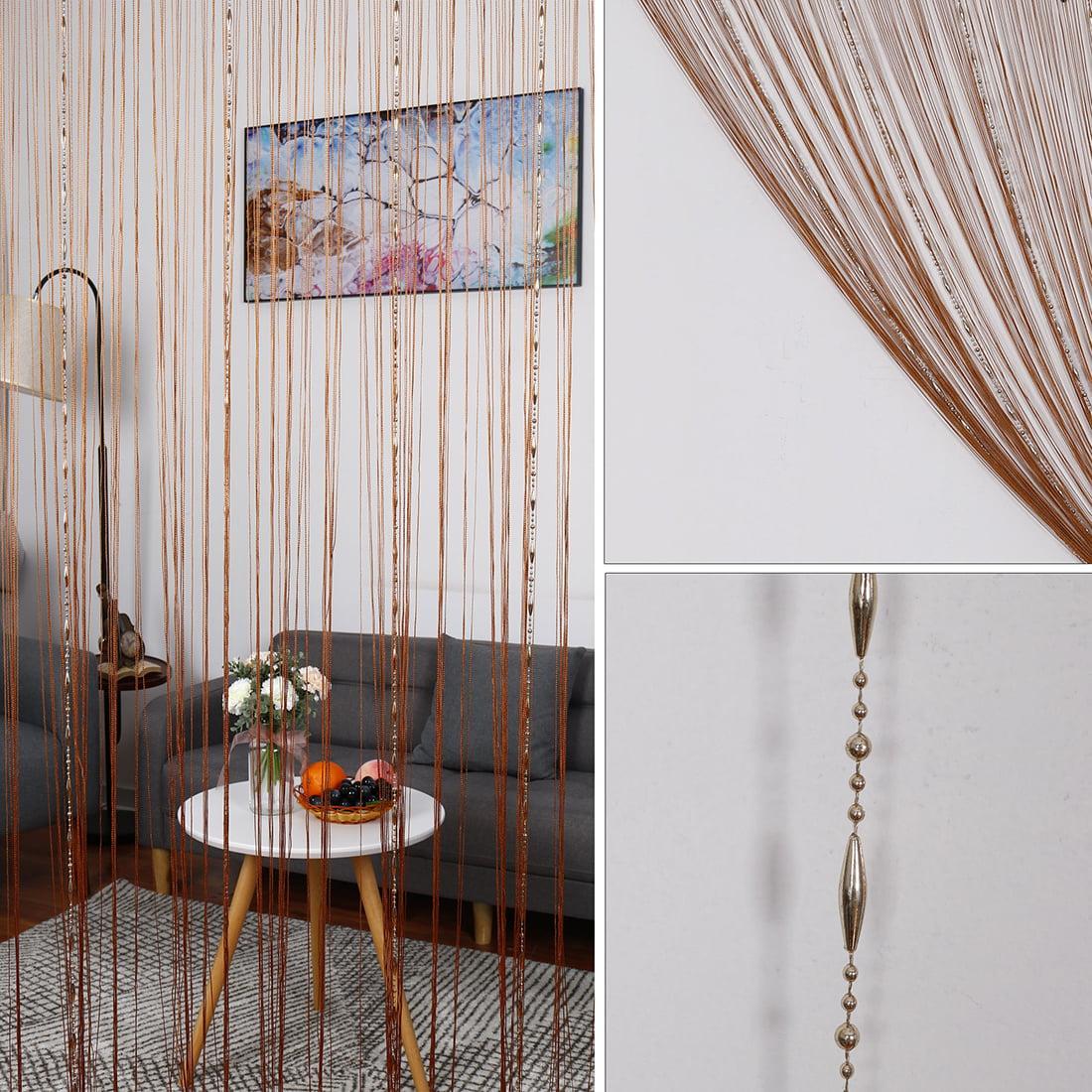 1//2M String Door Curtain Fringe Beads Room Divider Window Wedding Panel