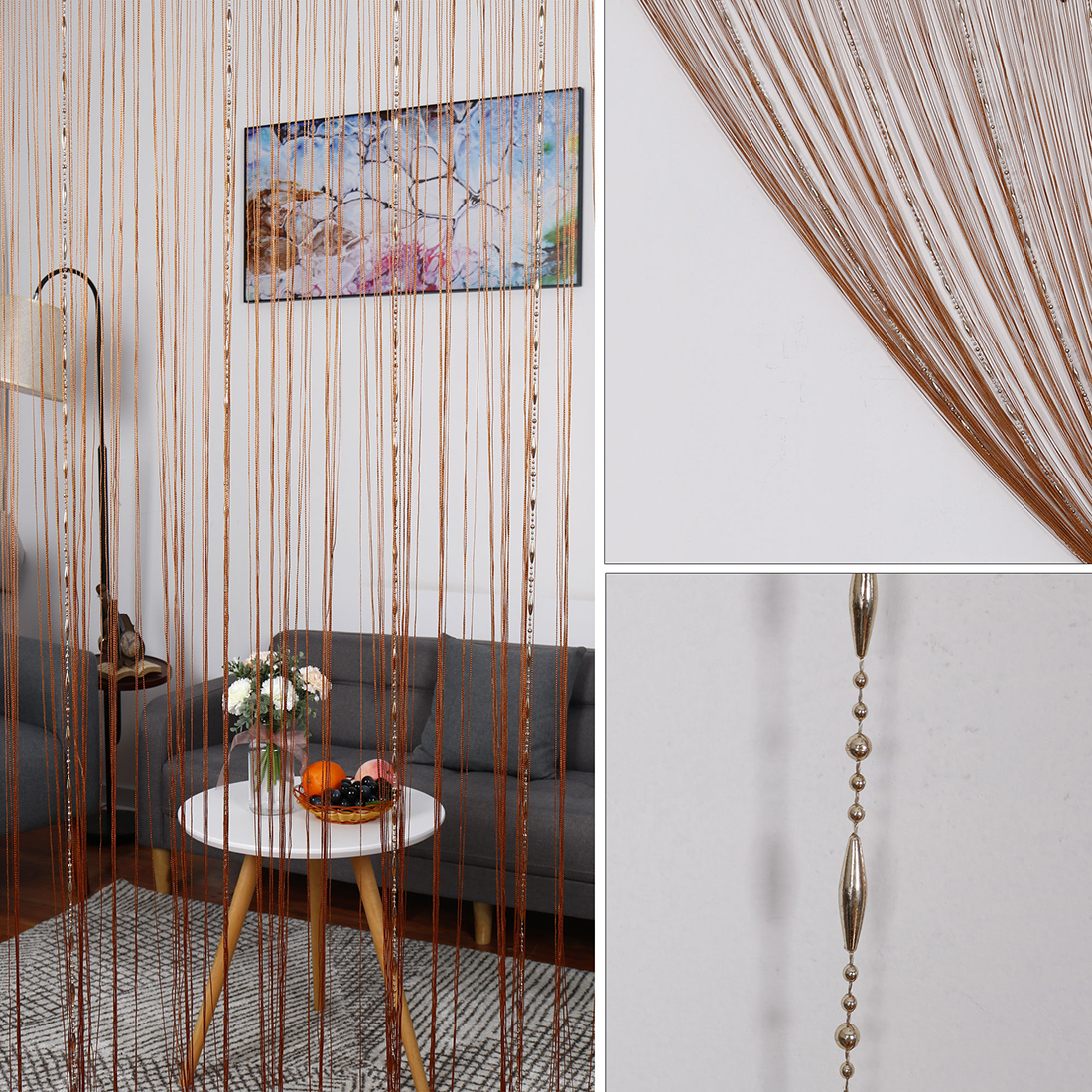 Room Divider Chain String Curtains Window Door Polyester Tassel