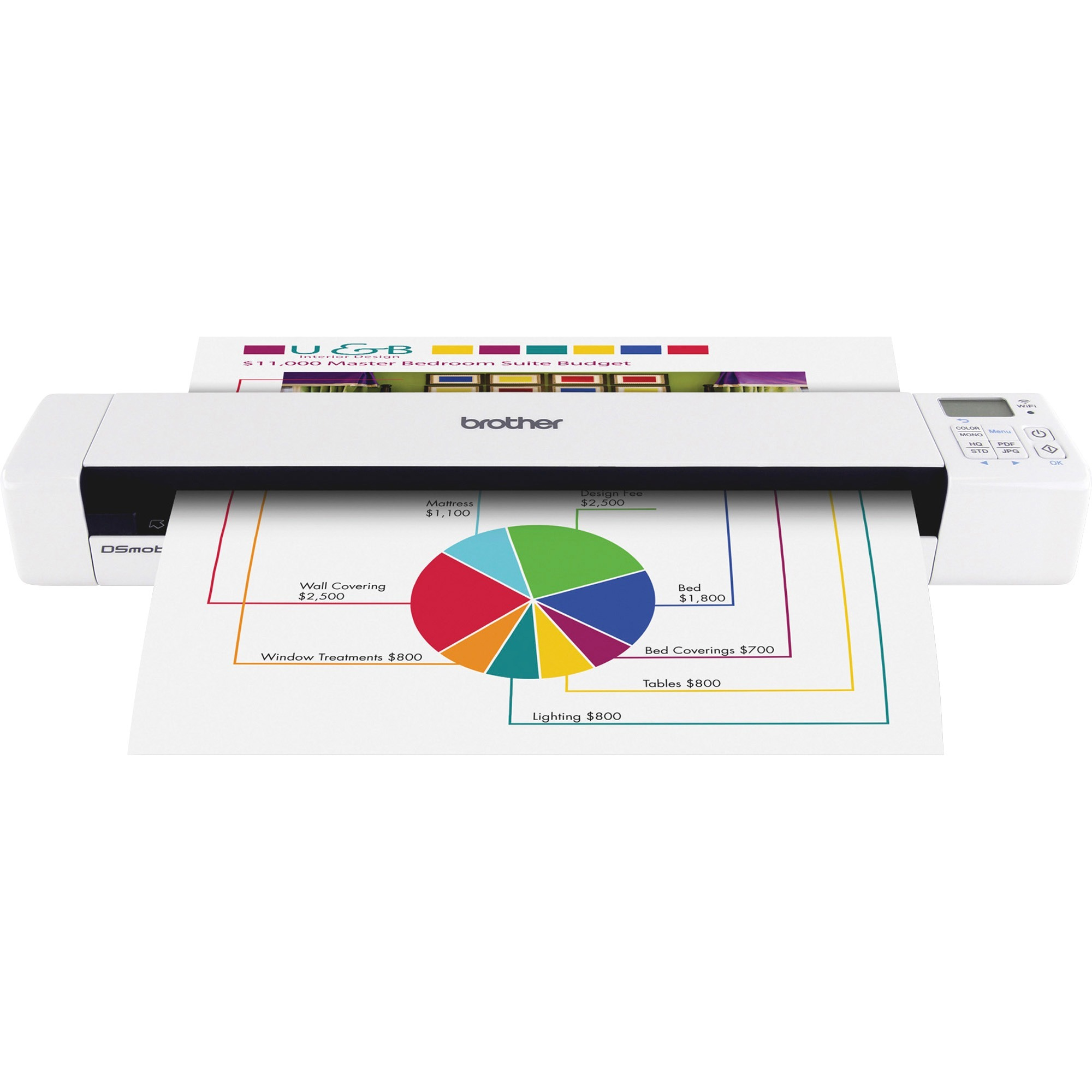 Brother, BRTDS820W, DS820W Wireless Mobile Color Scanner, 1 Each
