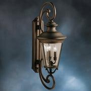Kichler Eau Claire 9348OZ Outdoor Wall Lantern - 11 in. - Olde Bronze