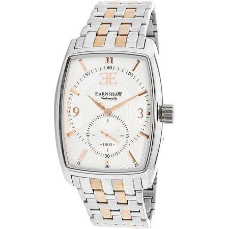 Thomas Earnshaw Mens Robinson Es 8009 Seta 01 Silver Stainless Steel Automatic Dress Watch