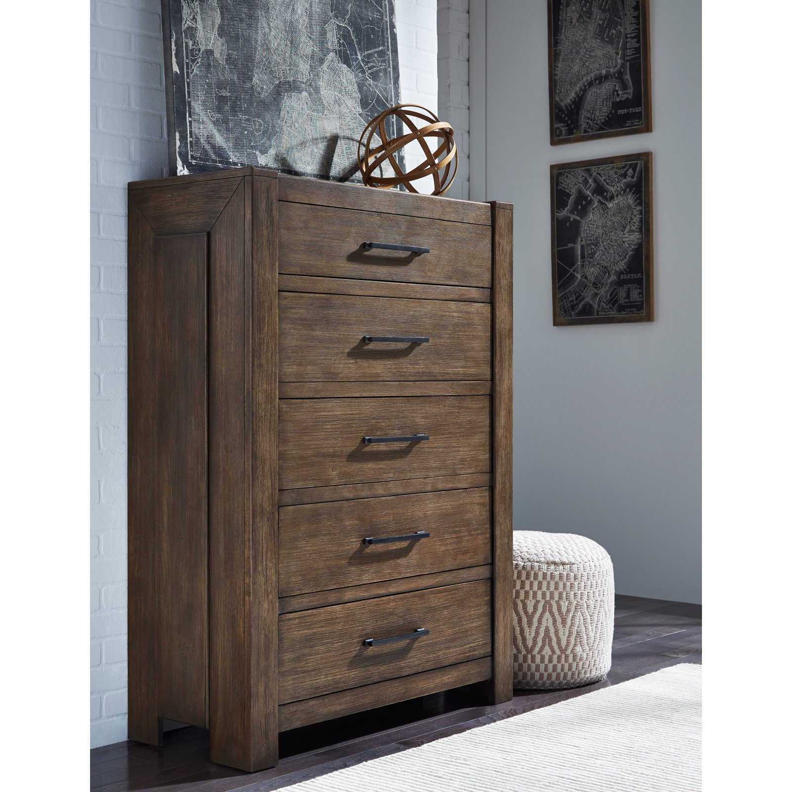 Samuel Lawrence Furniture Hops 5 Drawer Chest