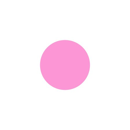 LiteMark 8.5 Inch Pink Dot Decal Stickers for Floors and Walls - Pack of 4
