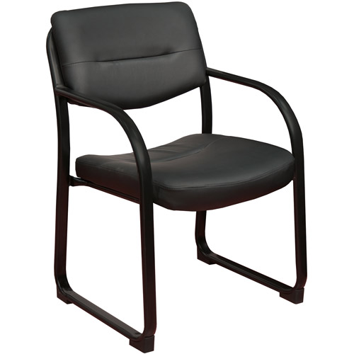 Regency Crusoe Leather Side Chair with Arms