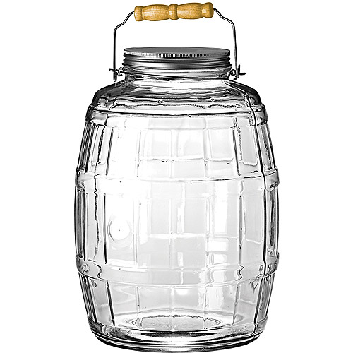 Anchor Hocking 2.5 Gal Barrel Jar with Brushed Aluminum Lid by Anchor Hocking