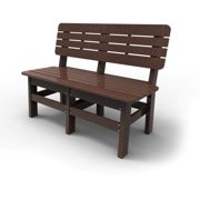 Country Bench by Malibu Outdoor, Dark Brown - 48''
