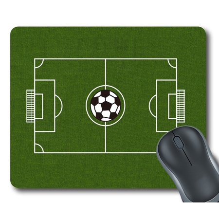 "GCKG Soccer Field Football Pitch Mouse Pad Personalized Unique Rectangle Gaming Mousepad 9.84""(L) x 7.87""(W)"