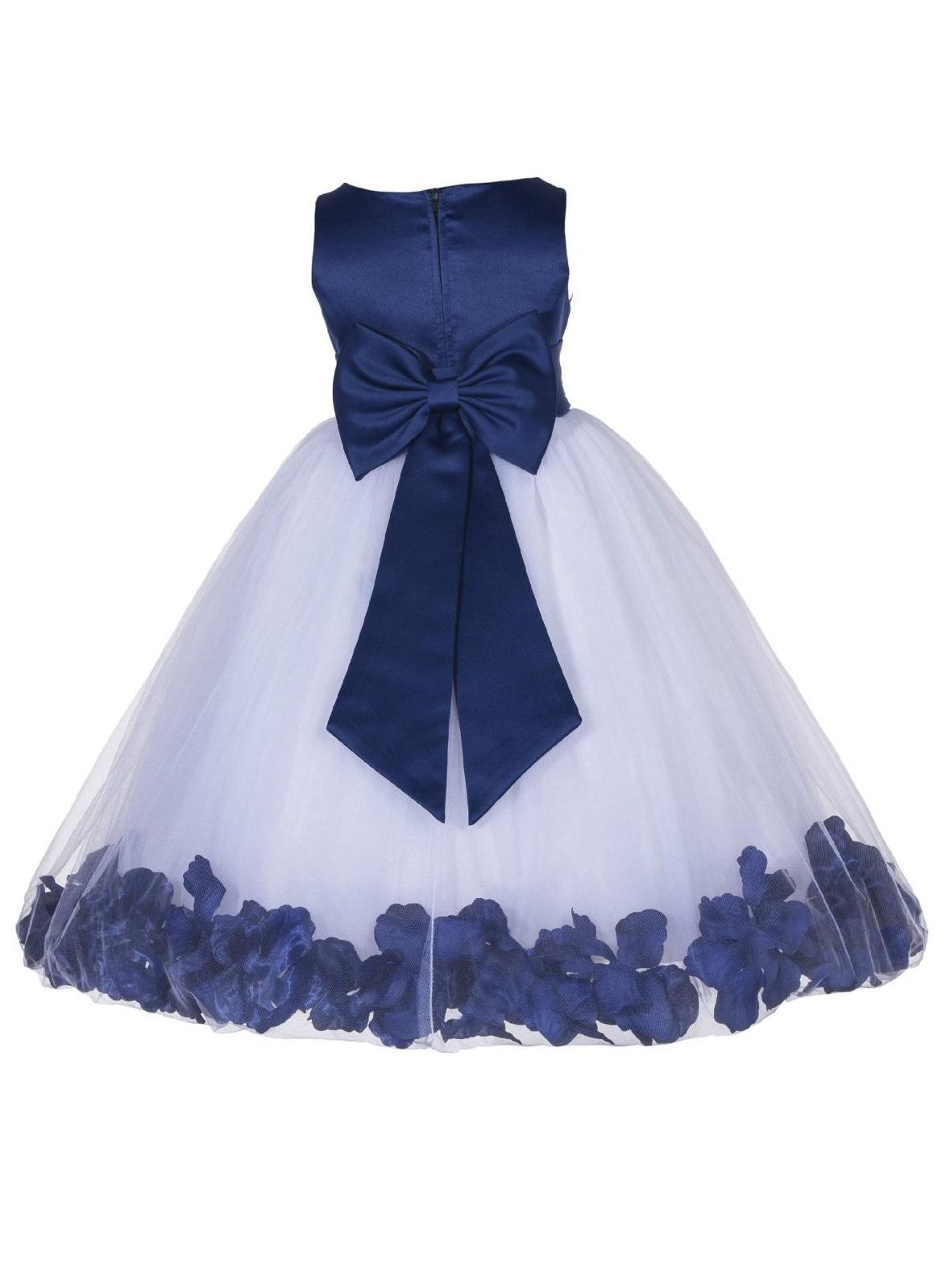 Ekidsbridal Rose Petals Tulle Flower Girl Dress Wedding Pageant Toddler Easter Recital 167T apple size 6