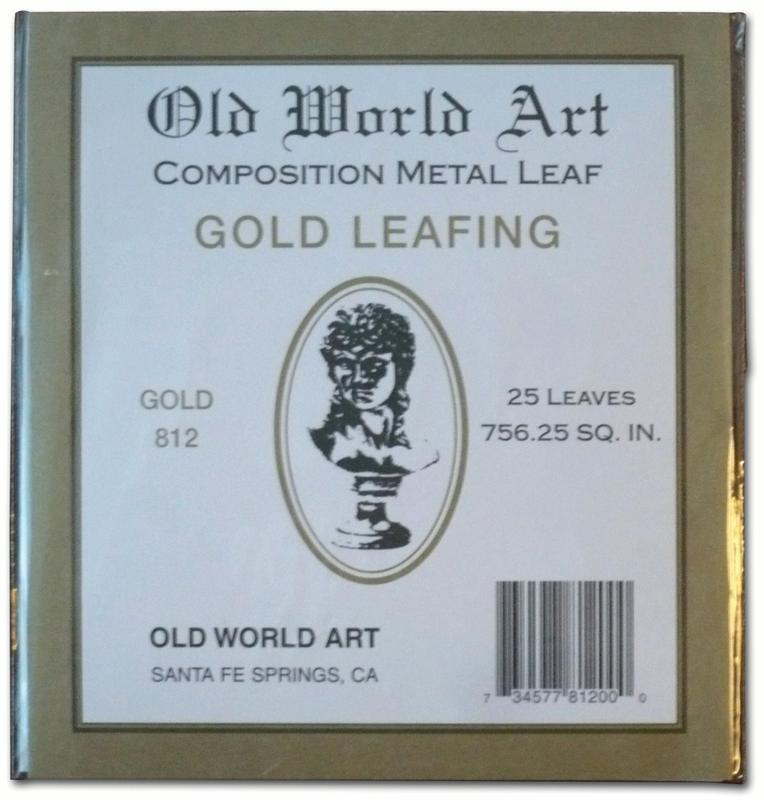 "Old World Art Metallic Leafing Sheet, 5.5"" x 5.5"", Composition Gold"