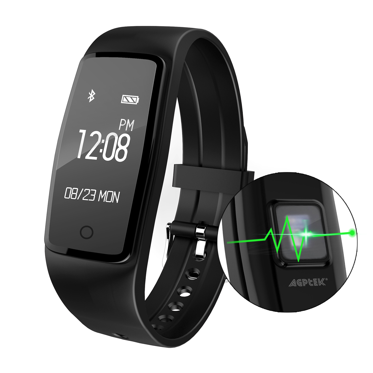 IMAGE Heart Rate Fitness Tracker Watch Updated Activity Tracker w/ Multiple Sports Modes for Android & IOS Smart Phones