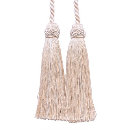 Seashell Four Light - Double Tassel / Ivory, Sand / Tassel Tie with 4 inch Tassels, 26