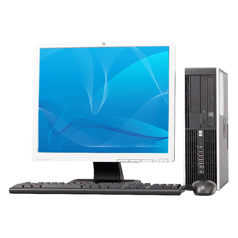 "REFURBISHED HP 8000 Elite 3.0Ghz C2D 8GB 1TB DVD Win 10 Pro 64 Small Form Computer + 19"" LCD"