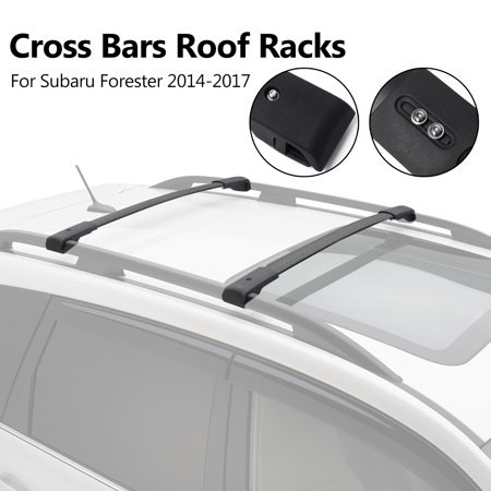 - NEW For 2014 - 2017 Subaru Forester Genuine OEM Areo Metal Cross Bars Roof Racks Luggage Carrier  Baggage Rack E361SSG000