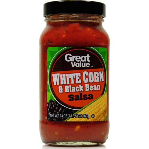 Great Value White Corn & Black Bean Salsa, Mild, 24 oz