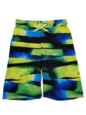2b08f42c18 Product Image Boys Neon, Blue & Black Graphics Surf Shorts Swim Trunks  Board Shorts