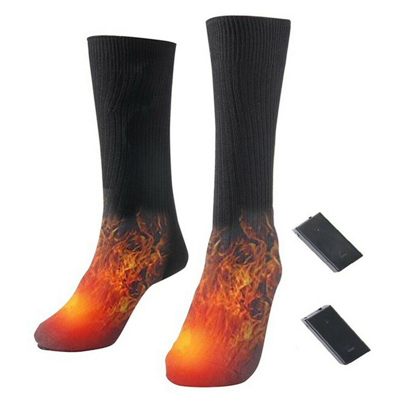Heated Socks Battery Powered Electric Winter Heat Mens Ladies Thermal Foot Warm