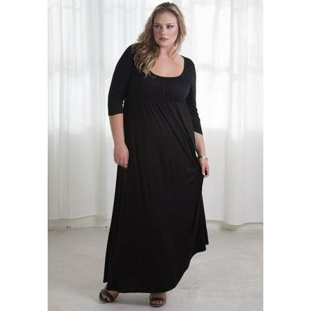 2c1d7f16442f Sealed with a Kiss Designs Plus Size - SWAK Designs Women's Plus Size Lois Maxi  Dress - Walmart.com