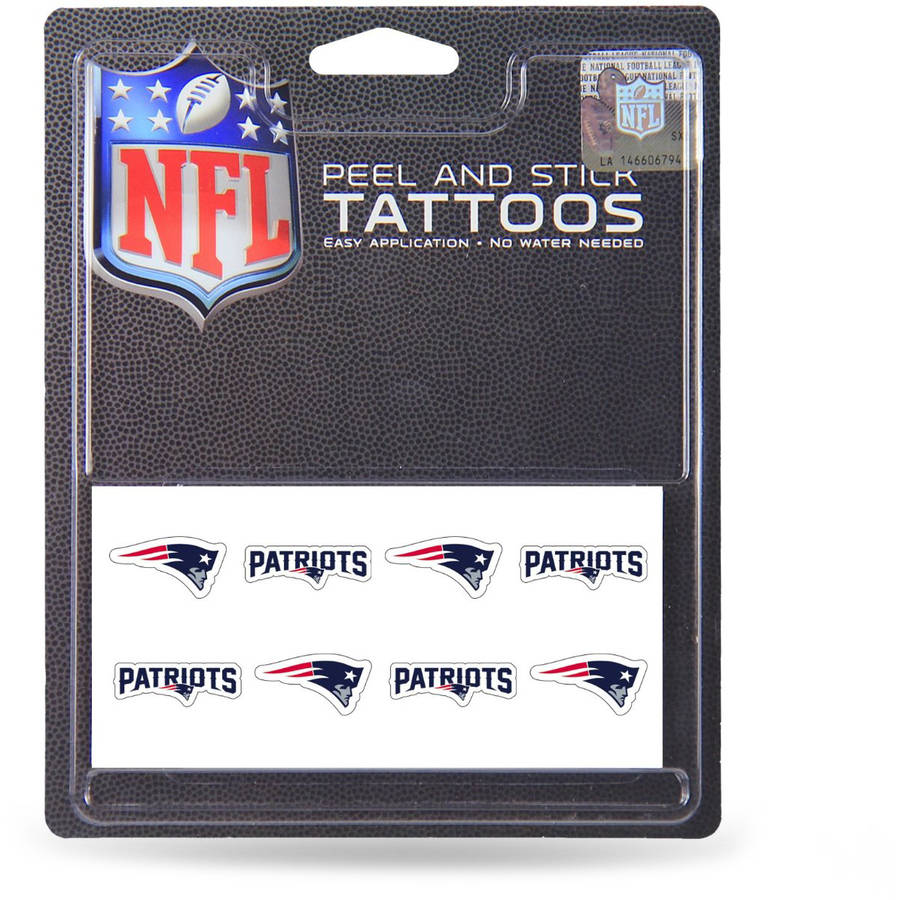 NFL New England Patriots Tattoo Set, 8-Piece