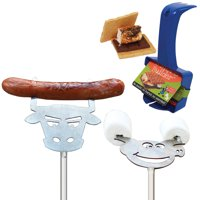 Campfire Fun Pack w/ Roasting Tools & S'more Maker For Campfires & Cookouts