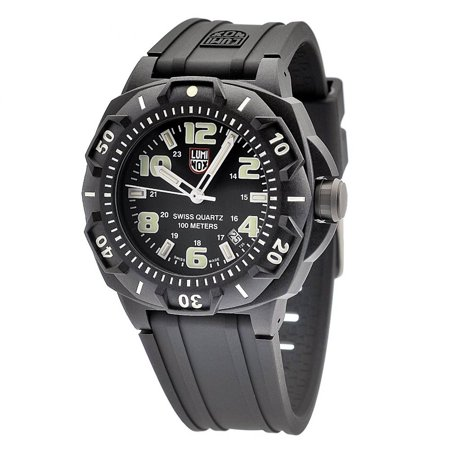 Luminox 0201.SL Men's Land Sentry 0200 Black Dial Rubber Strap Black Carbon Plastic Watch