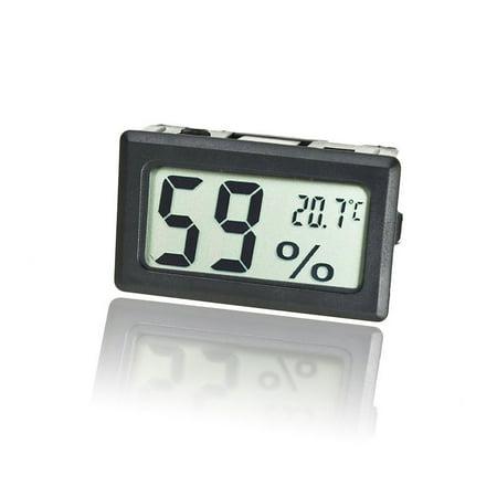 Mini Thermometer Hygrometer, EEEKit Indoor LCD Digital Electronic Temperature Humidity Meter Gauge for Kitchen Garden Baby Room Classroom, Black ()