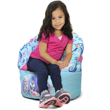 Sensational Disney Frozen Mini Bean Bag Chair Blue Inzonedesignstudio Interior Chair Design Inzonedesignstudiocom