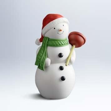 Hallmark Jolly in the John singing and talking snowman