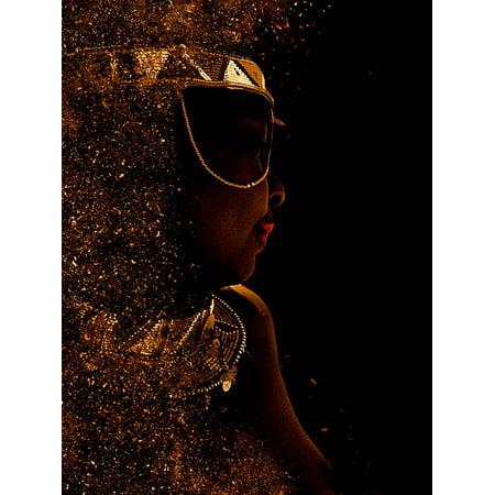 Framed Art for Your Wall Dark Skinned Portrait Human Sunglasses Maori Woman 10x13 Frame