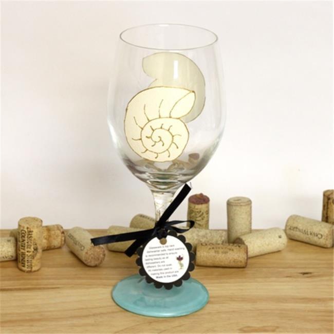 Judi Painted it BE-SNAL Snail Shell Wine Glass