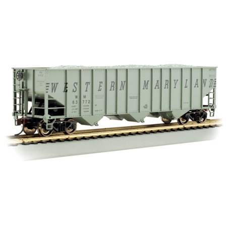 Bachmann-Bethlehem Steel 3-Bay 100-Ton Open Hopper - Ready to Run - Silver Serie