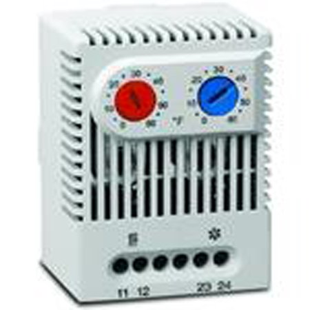 Hoffman Dual Thermostat, NO & NC Contacts, Temperature Range: 32 to 140 F Dual Fuel Thermostat Range