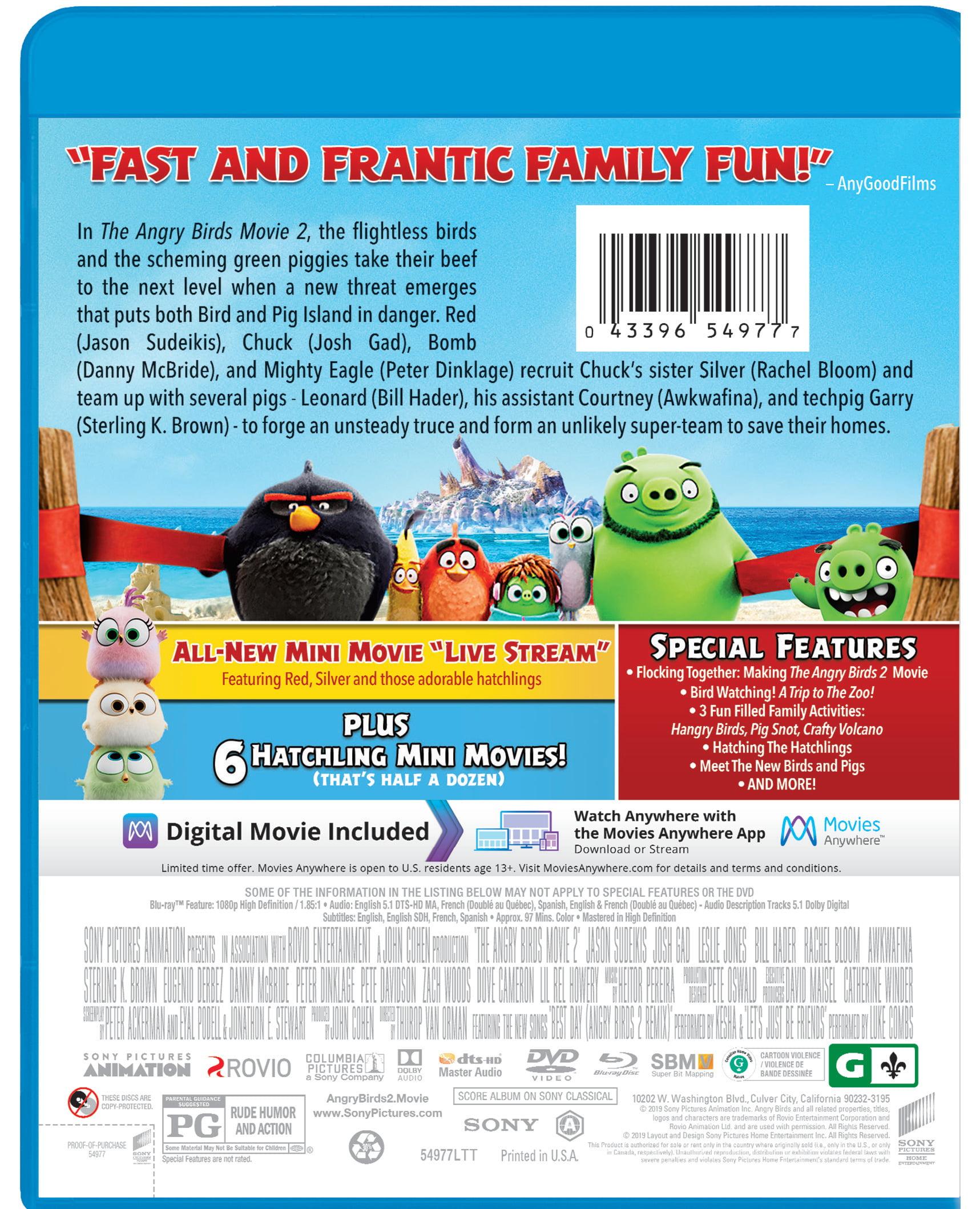 The Angry Birds Movie 2 Blu Ray Dvd Walmart Com Walmart Com
