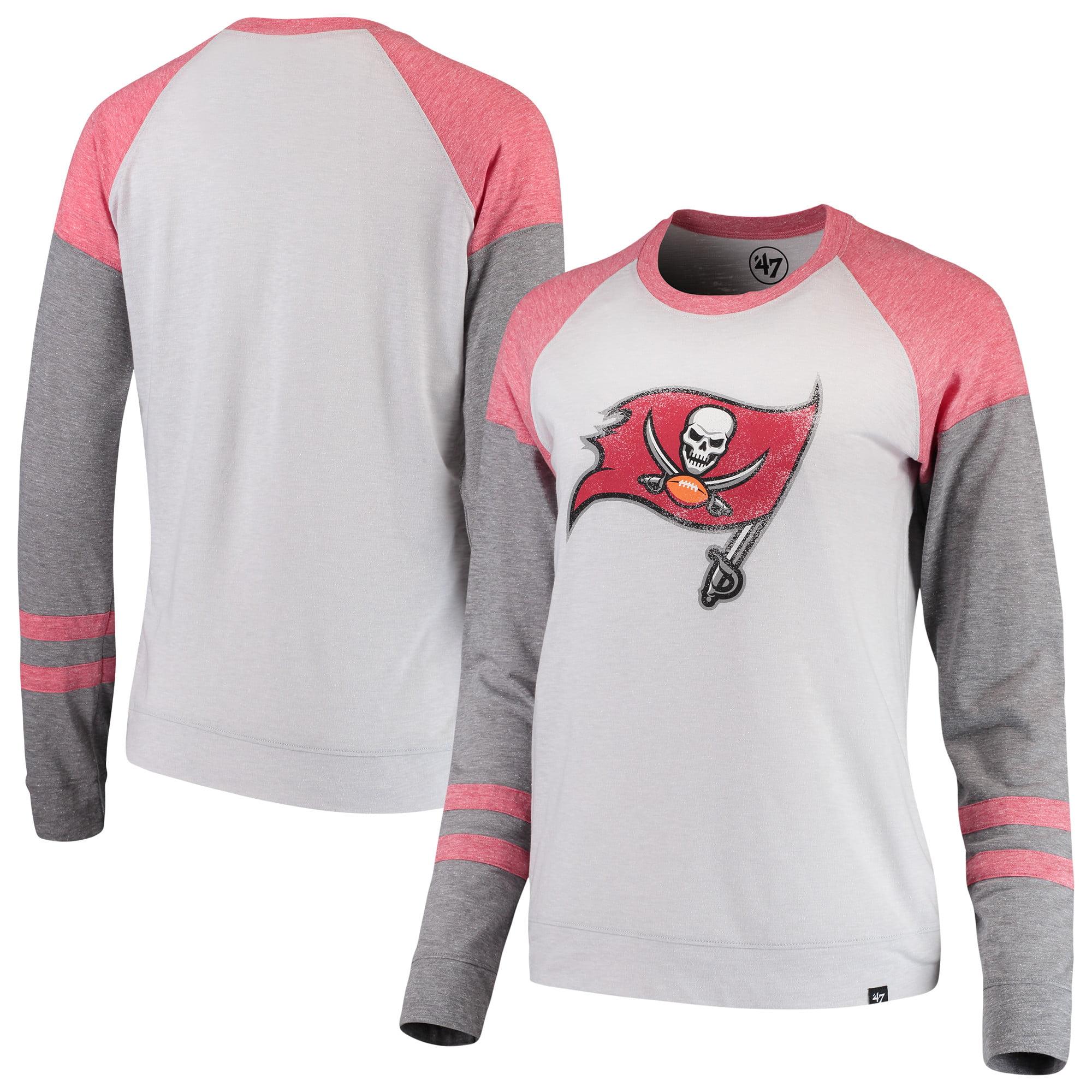 Tampa Bay Buccaneers '47 Women's Match Distressed Raglan T-Shirt - Heathered Gray