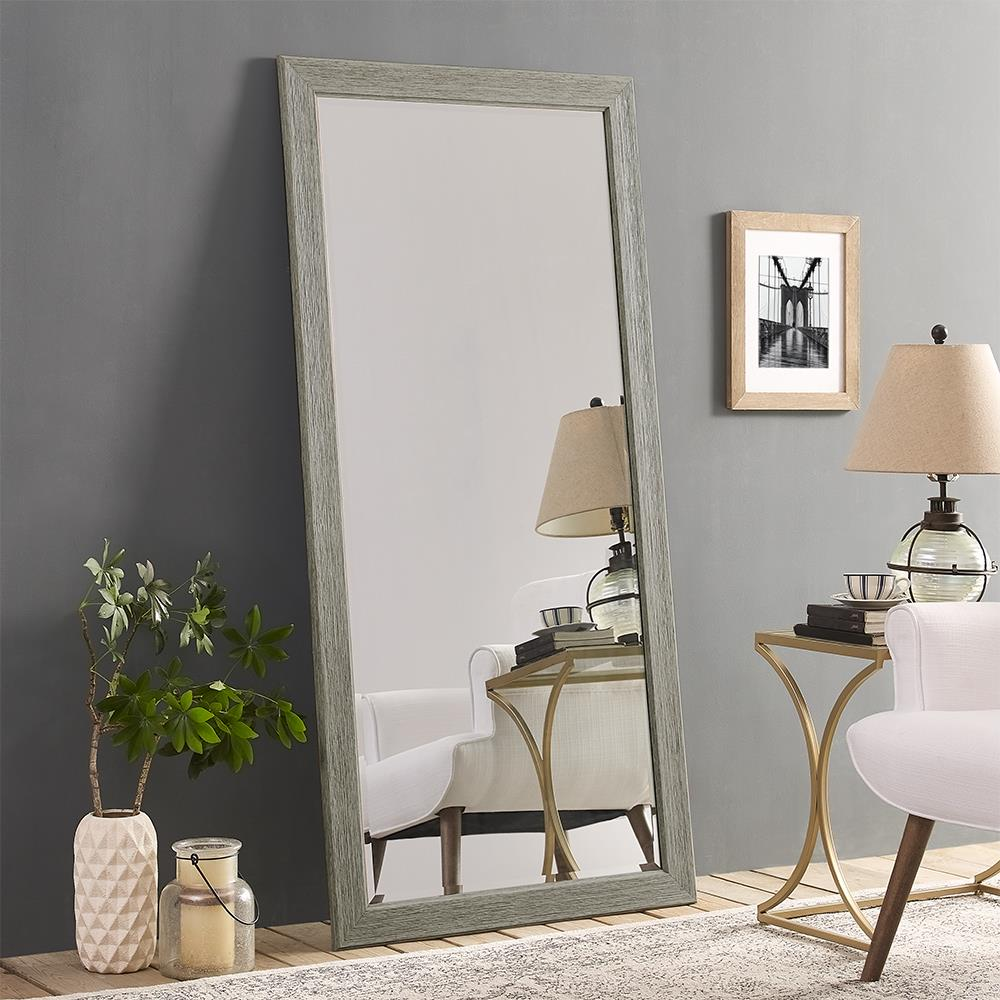 "Naomi Home Rustic Mirror-Finish:Green Gray,Size:66"" x 32"""