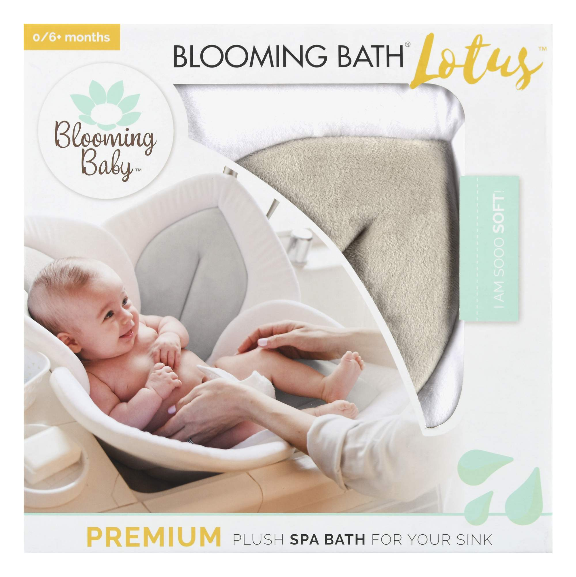 Blooming Baby Bath Lotus, Gray