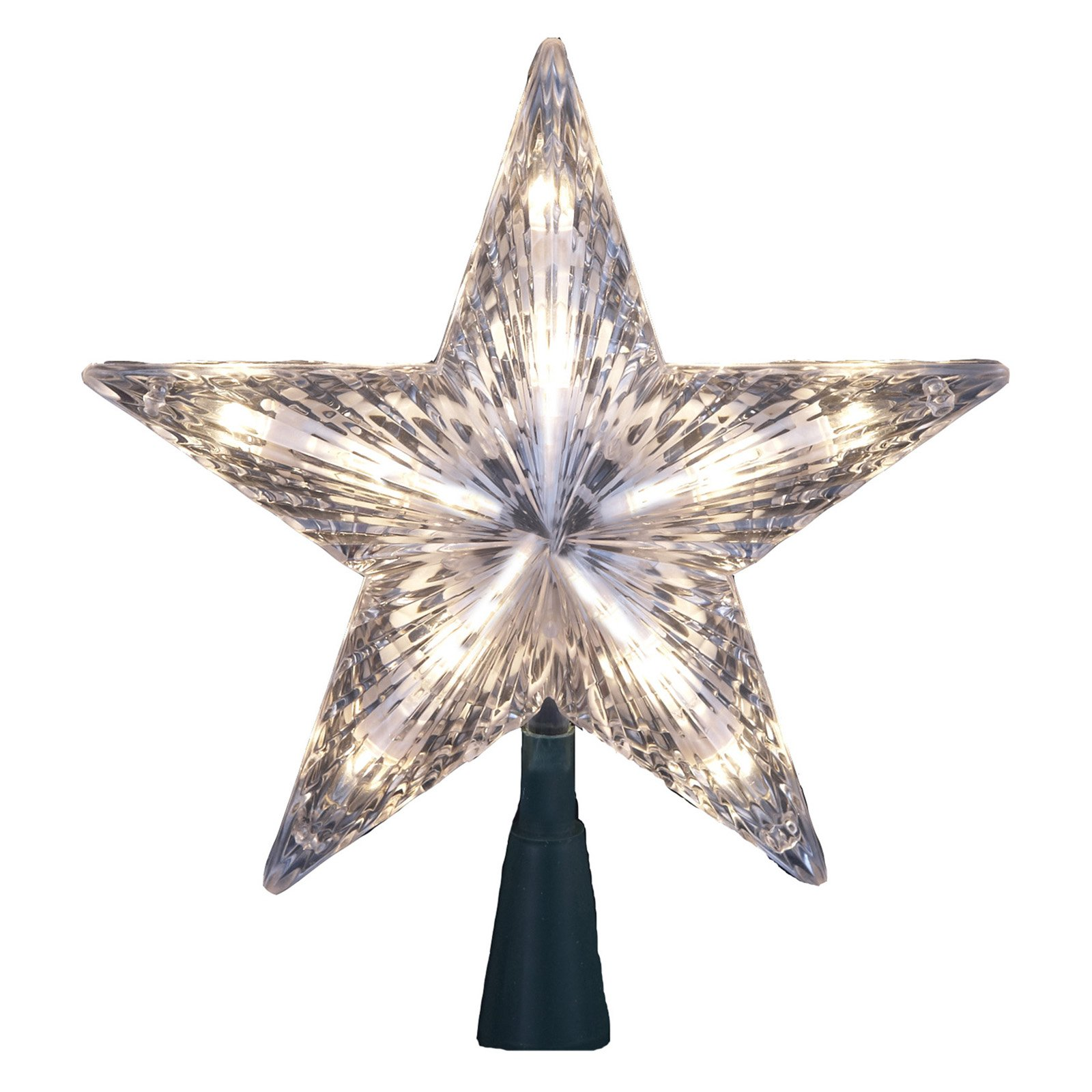 Kurt Adler 7 in. 10-Light Clear Star Tree Topper