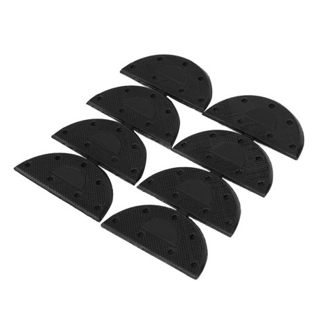 Rubber Shoes Boots Sole Heel Guard Plate Taps Repair Pad 4-Pair Black