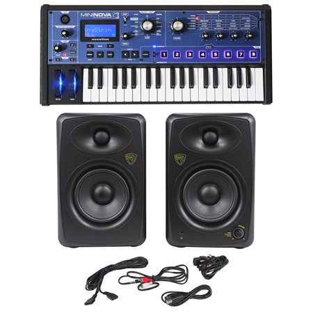 novation mininova 37 key studio usb midi keyboard synthesizer 2 5 monitors. Black Bedroom Furniture Sets. Home Design Ideas