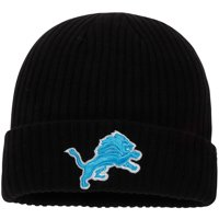 Detroit Lions NFL Pro Line by Fanatics Branded Core Elevated Cuffed Knit Hat - Black - OSFA