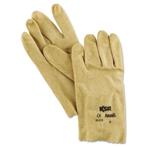 Ansell 22-515-9 Ksr Multi-purpose Vinyl Gloves, Tan, Size 9, 12 Pairs