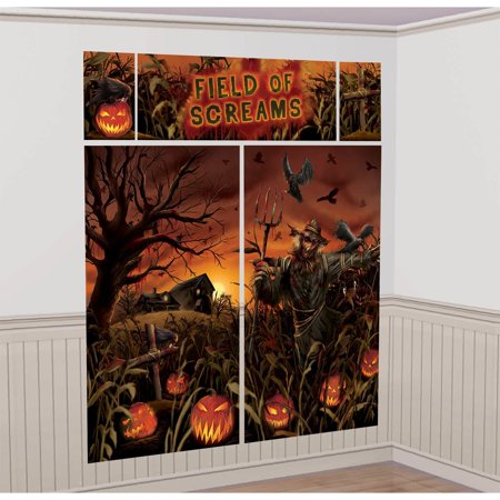 FIELD OF SCREAMS SCENE SETTER DECORATION - Halloween Wall Scene Setters