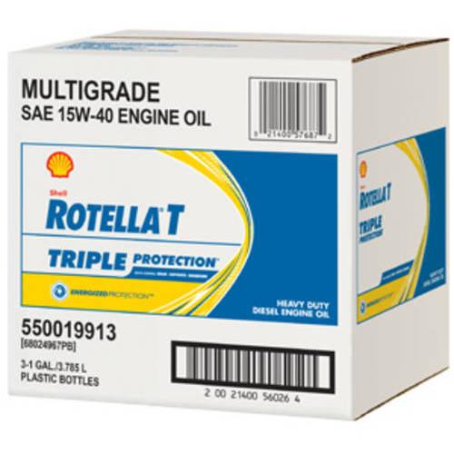 Shell Rotella T4 15W-40 Heavy Duty Diesel Oil, 1-Gallon, (3 pack)