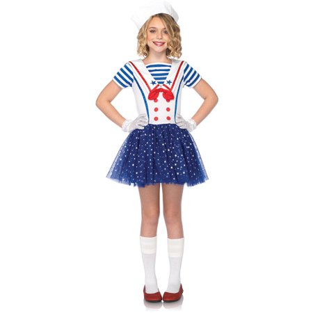 Leg Avenue Sailor Sweetie Child Halloween Costume, Size M - Sailor Coatume