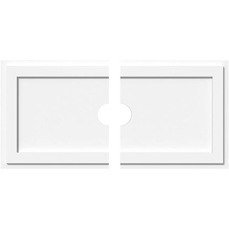 Ekena Millwork CMP38X19RE2-04000 4 in. ID x 13.25 in. Rectangle Architectural Grade PVC Contemporary Ceiling Medallion - 2 Piece - image 1 of 1